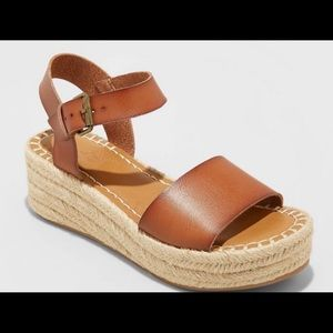 Universal Threads Rae faux leather wedges cognac